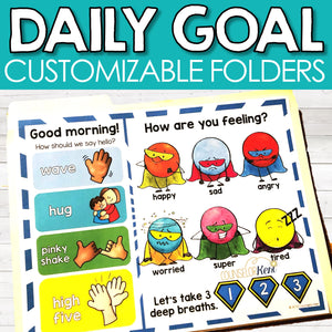Daily Goal Folder: Set Behavior Goals