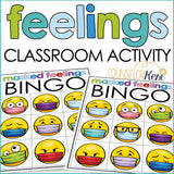 Feelings Activity Counseling Classroom Guidance Lesson Emotions with Masks
