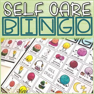 Self Care Game: Bingo Counseling Game to Practice Self Care Activities