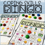 Coping Skills Game: Bingo Counseling Game to Practice Calming Strategies
