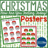 Christmas How Are You Feeling Posters - Elementary School Counseling