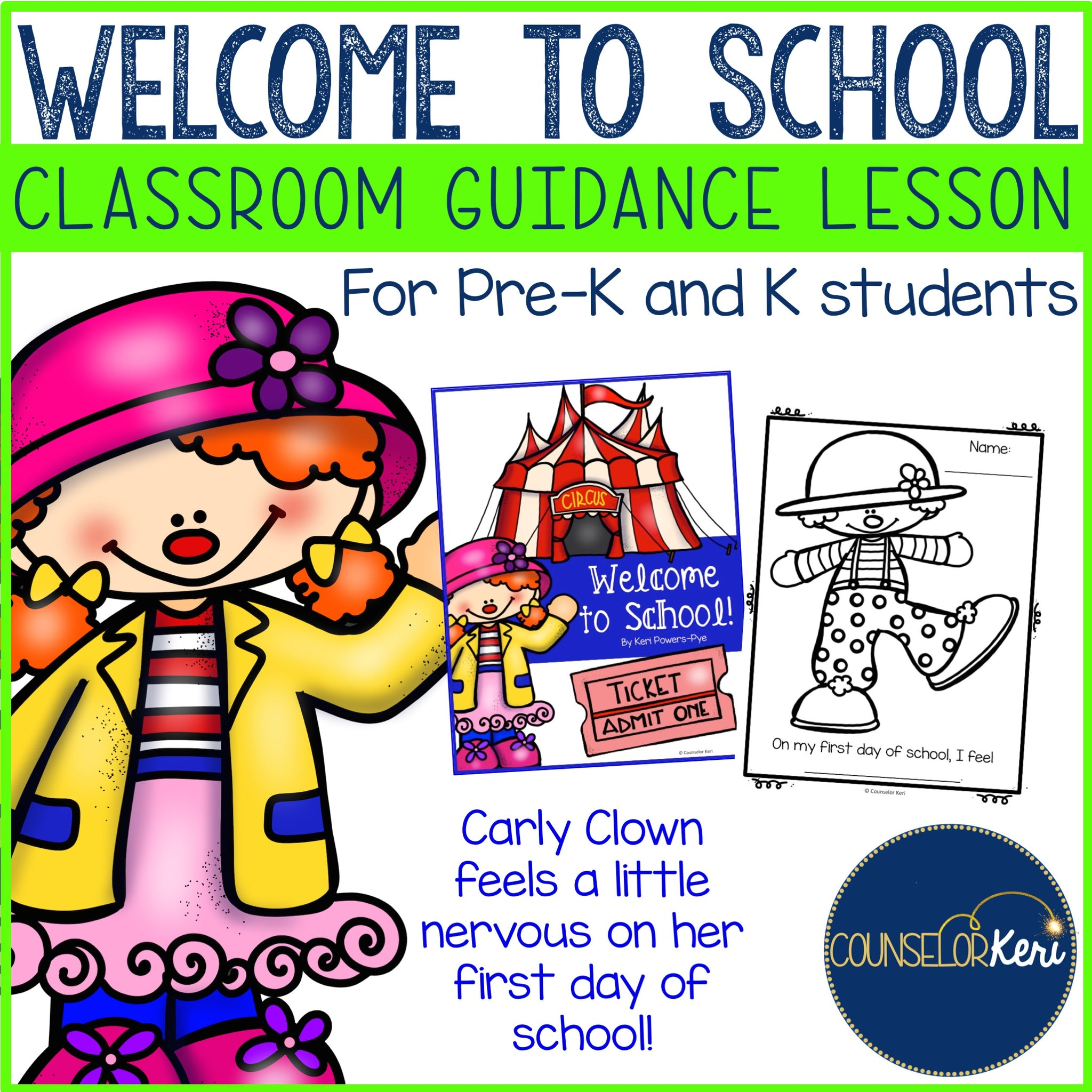 Classroom Guidance Lesson Welcome To School Pre K And