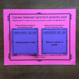 Career Interest Card Sort Activities - Career Exploration School Counseling