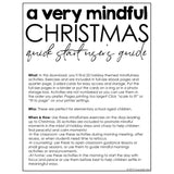 Christmas Mindfulness Activities: 25 Mindful Mornings Activities