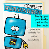 Conflict Resolution File Folder Game for School Counseling