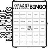 Character Education Bingo for Elementary School Counseling