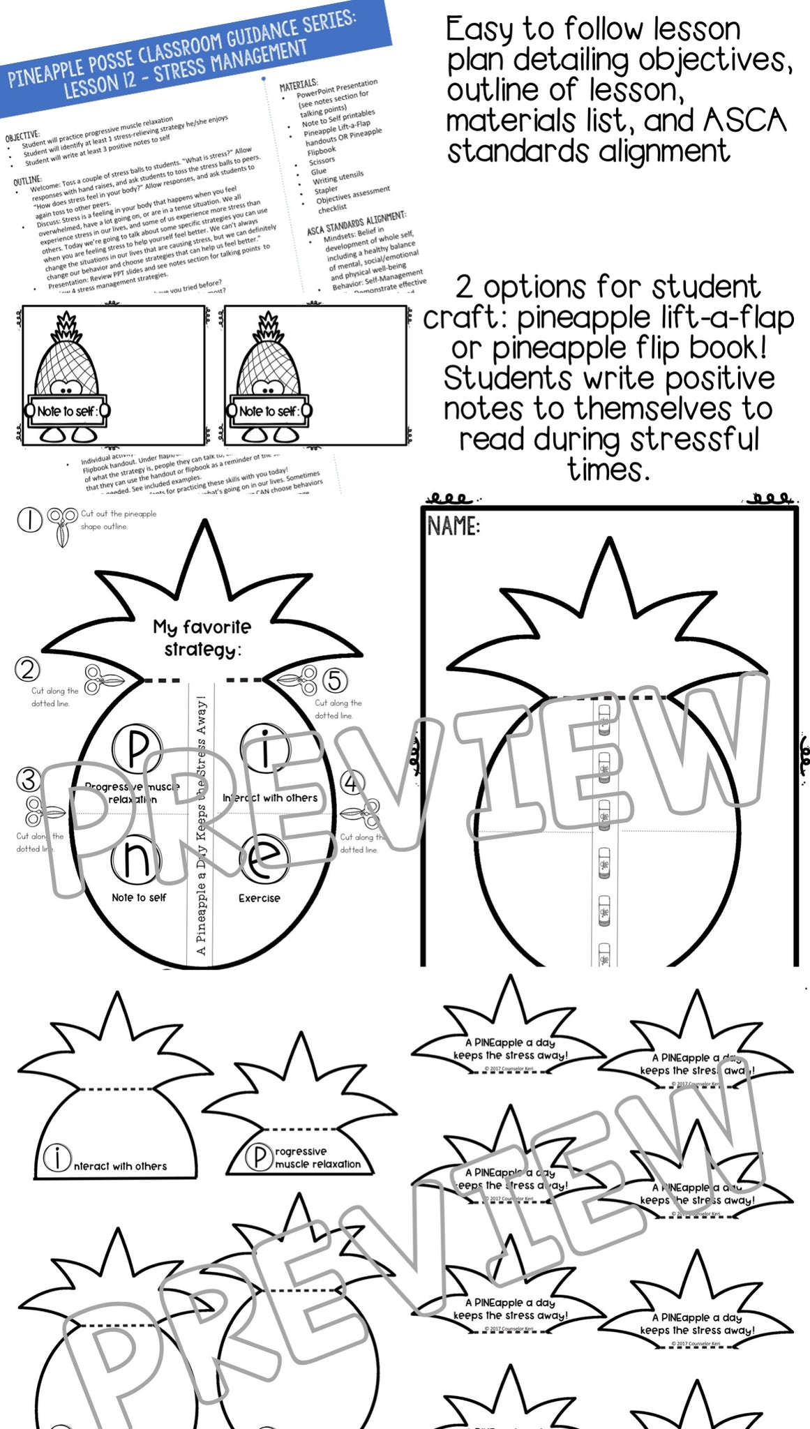 Stress Management Classroom Guidance Lesson for Elementary