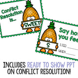 Conflict Resolution Classroom Guidance Lesson for School Counseling Pineapple