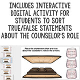 Meet the Counselor Classroom Lesson Digital Activity for School Counseling