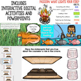 Camping Themed Classroom Guidance Lesson Bundle Unit for Elementary School Counseling