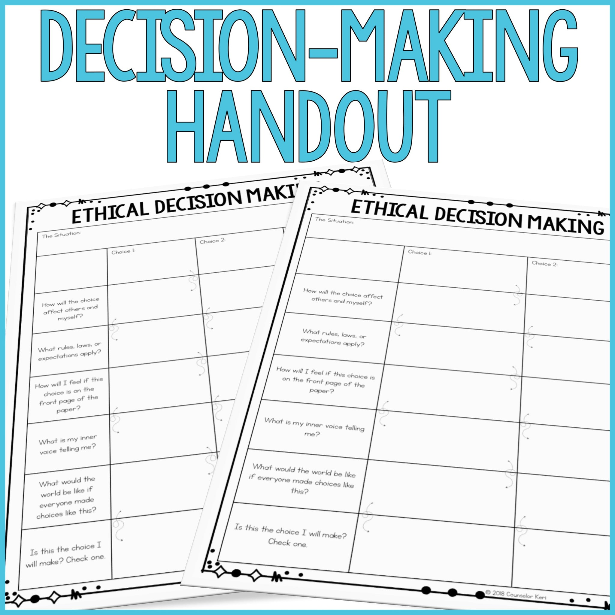 Ethical Decision Making Classroom Guidance Lesson for School