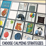 Calm Corner Feelings Check-in And Calming Strategies Choice Board for a File Folder