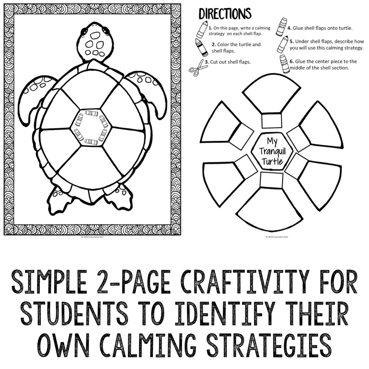 Calming Strategies Classroom Guidance Lesson for Teaching