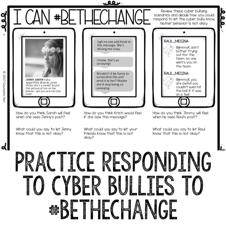 Cyber Bullying Prevention Classroom Guidance Lesson for