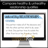 Healthy Relationships Classroom Guidance Lesson for School Counseling