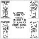 Community Helpers Work Together Career Education Classroom Guidance Lesson