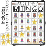 Feelings Game: Bingo Counseling Game to Practice Identifying Emotions