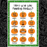 Halloween Pumpkin Emoji Feelings Posters - School Counseling