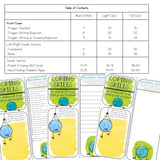 Coping Skills Lap Book with with Calming Strategies Cards for School Counseling