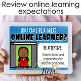 Virtual Learning Expectations Digital Activity for Google Classroom