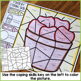 Color by Coping Skills Fall Activity for School Counseling