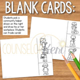 Community Helper Clip Cards for Counseling Centers: Career Education Activity