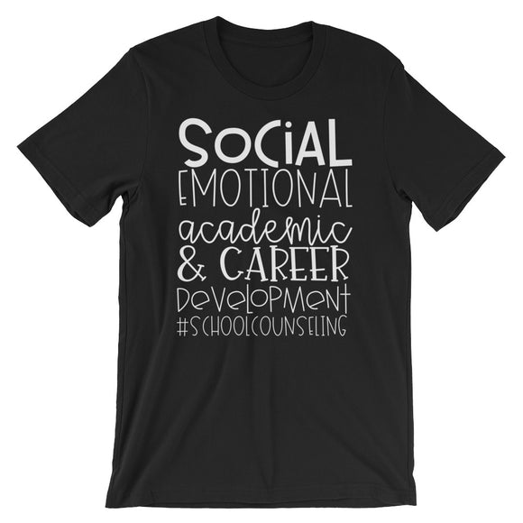 School Counseling T-Shirt Domains Short-Sleeve Unisex T-Shirt