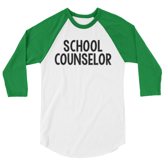School Counselor baseball tee 3/4 sleeve raglan shirt