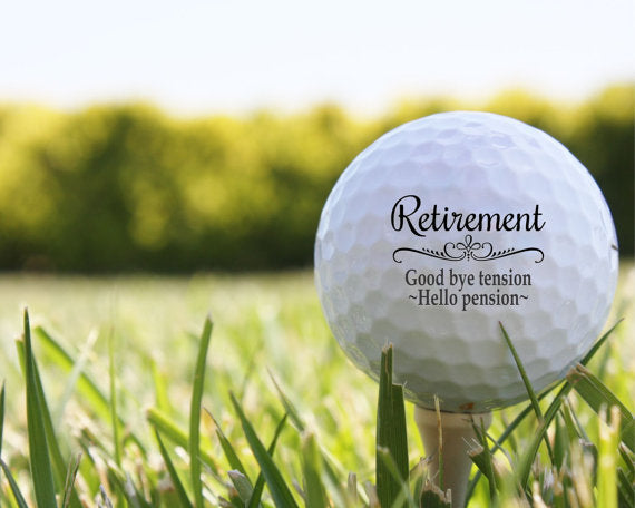 Retirement Gift - Customized Golf Balls