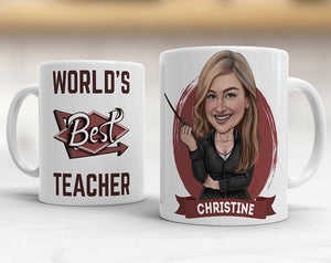 Caricature Coffee Mug - Teacher