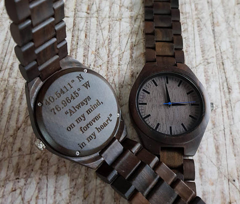 Retirement Gift-Wooden-Watch