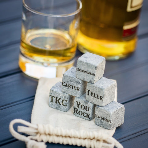 Engraved Whiskey Stones