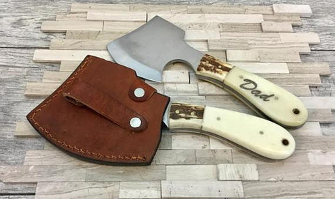 Engraved Mini Ax with Sheath