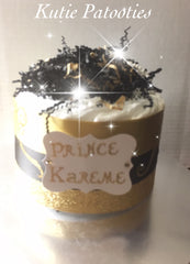 Prince Kareme Royality Inspired Brown & Golden Diaper Cake