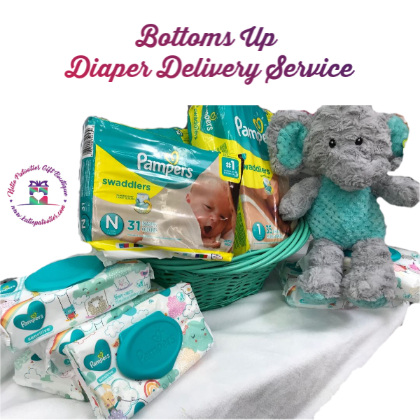 Bottoms Up Diaper Delivery Service (Wipes Add On)