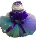 Feather Tutu Diaper Cake