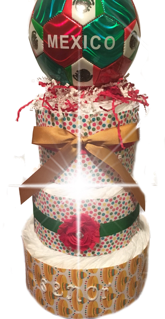 Mexican Inspired Diaper Cake