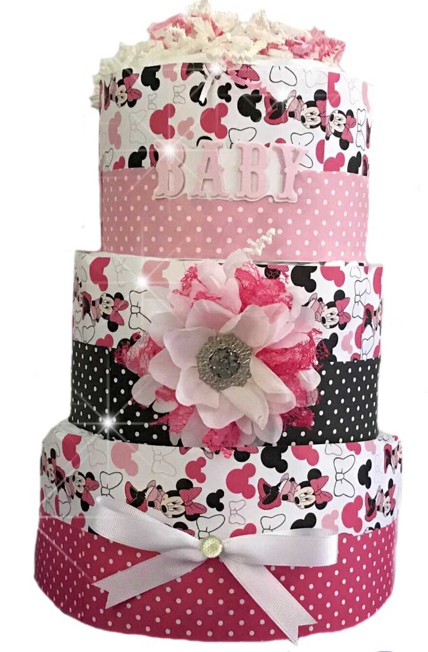 Minnie Mouse Inspired Diaper Cake