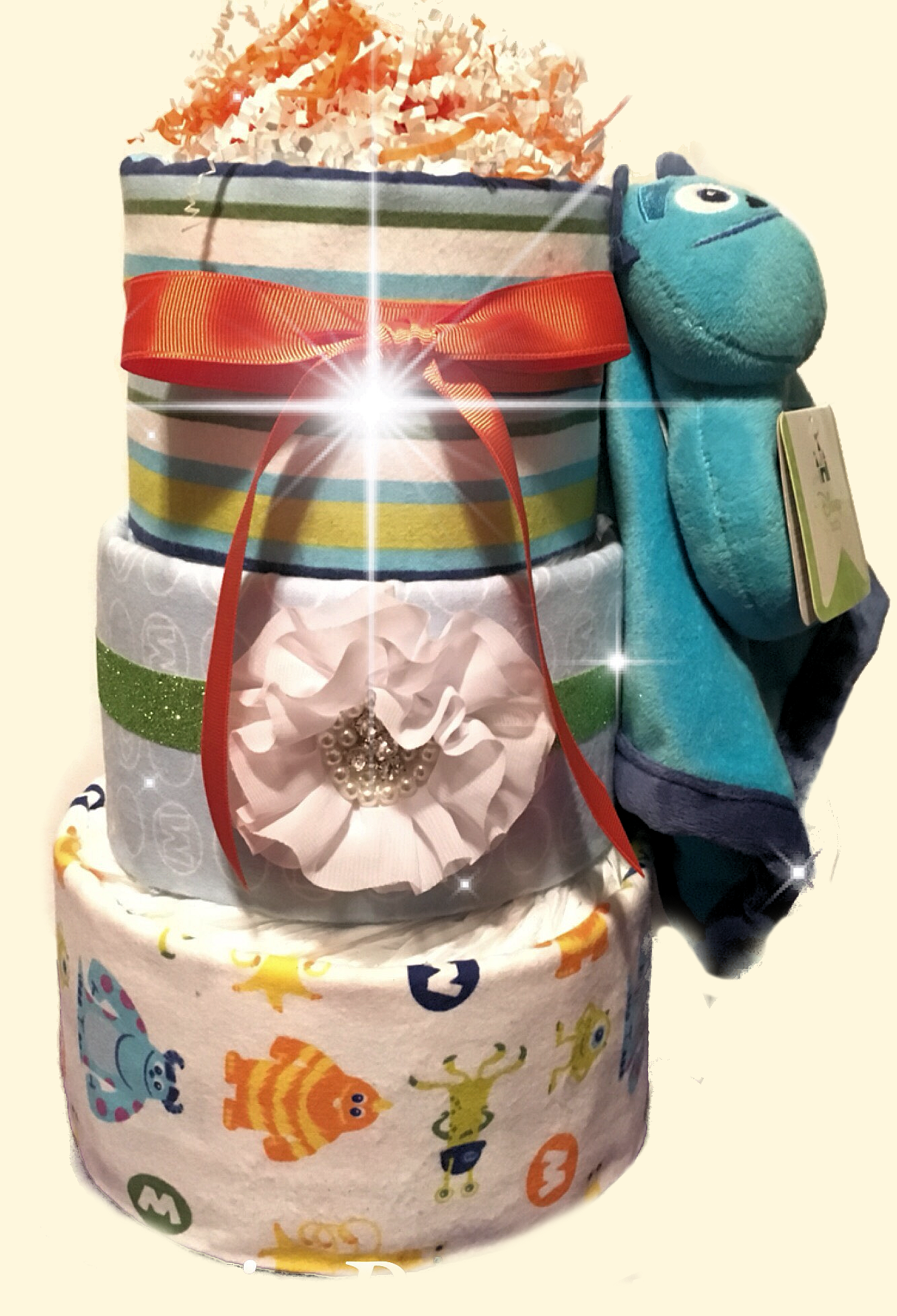 Monster Inc Inspired Diaper Cake
