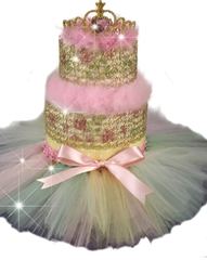 Princess Crown Tutu Diaper Cake
