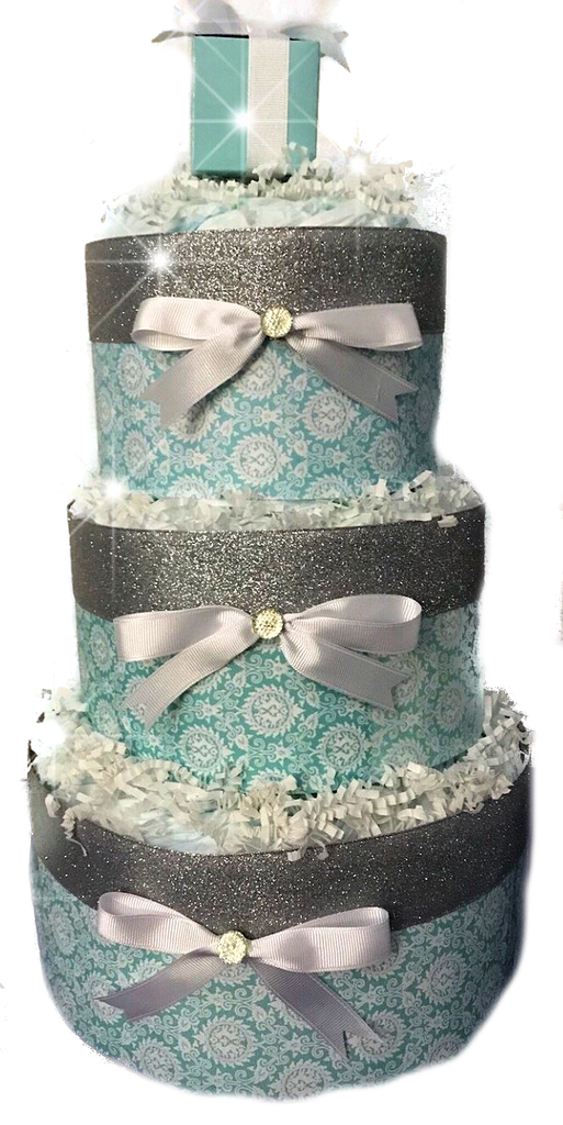 Tiffany Inspired Diaper Cake