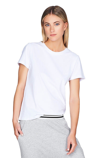 Doux White Tee Women Cropped