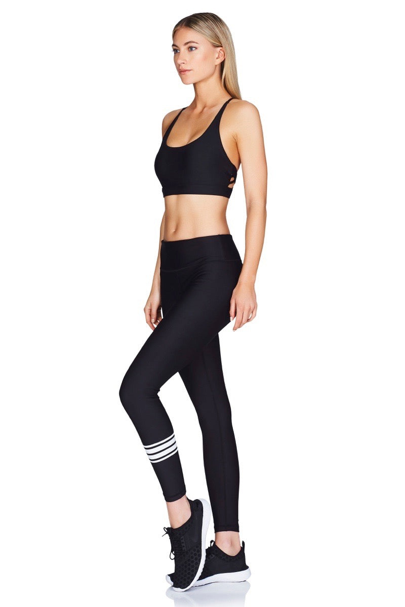 Geo Sports Bra Revolv Athletic Pants Black Full