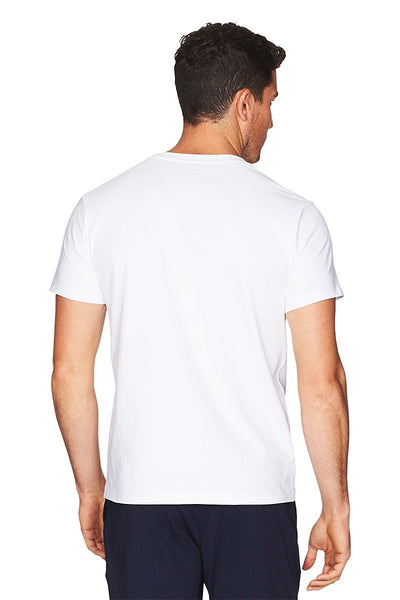 Hamptons White Tee Men Back Cropped