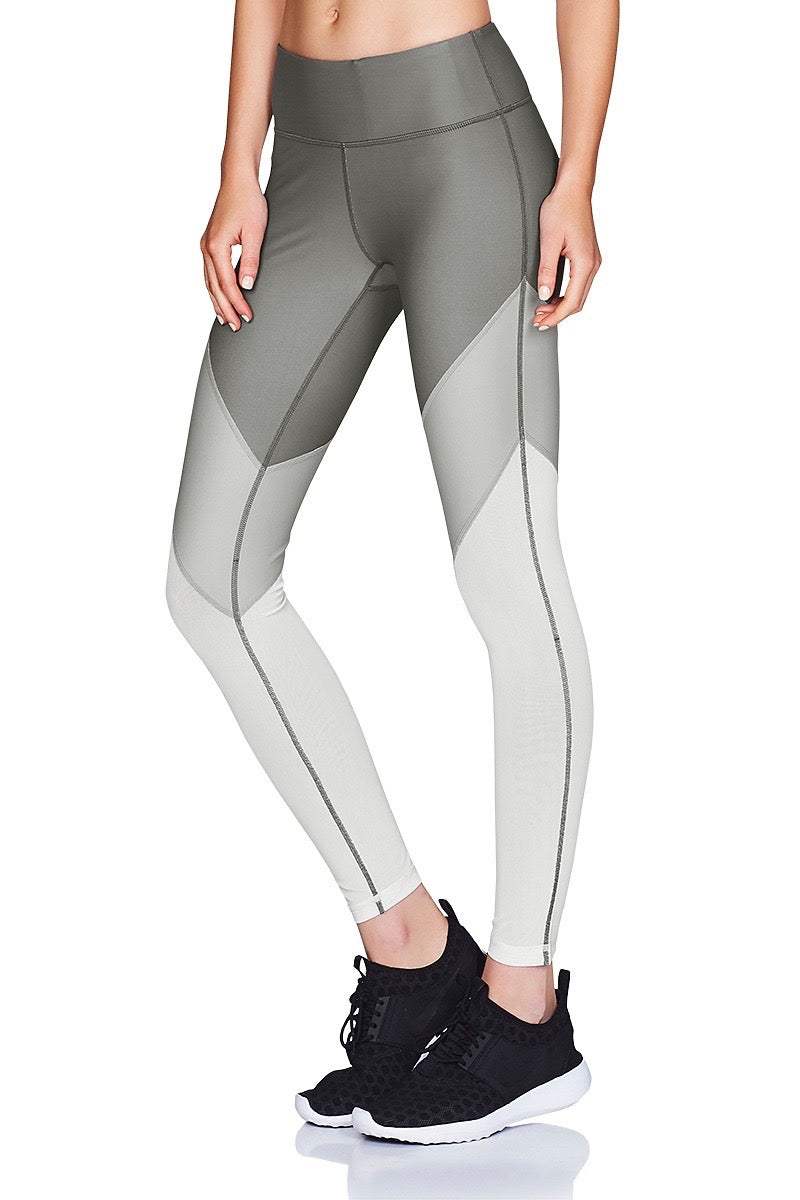 Tri-Tone Mesh 7/8 Tight Cropped