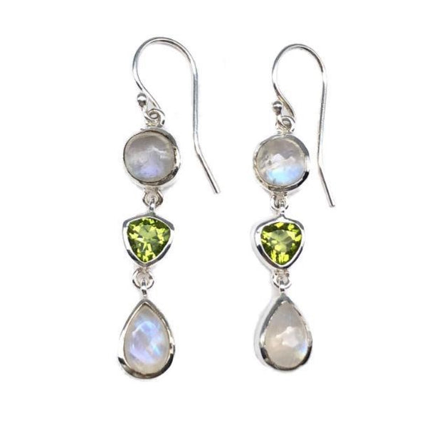 Moonstone Peridot Earrings #111