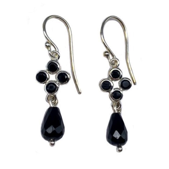 Onyx & Spinell Earrings #111