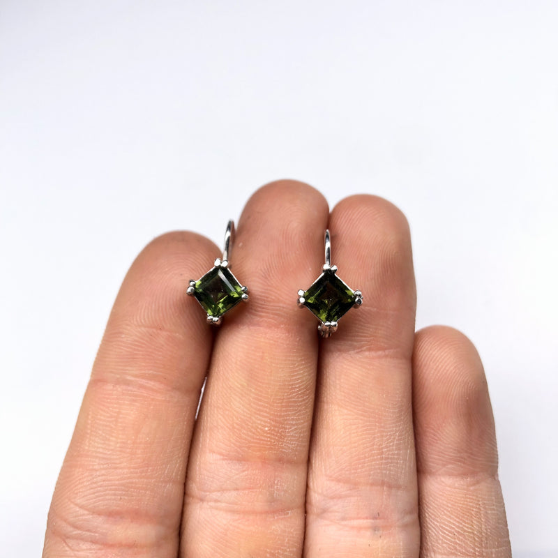 Moldavite Earrings #111