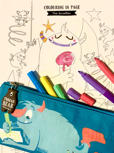 colouring in sheet, monsters, activities for children, rainy day activity,