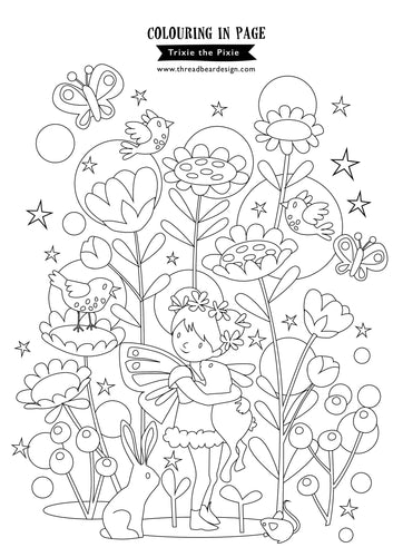 Trixie the Pixie colouring in page